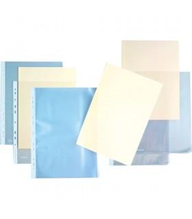 """Folie protectie """"L"""" pentru documente A4, cristal, 100 buc/set, 120 microni, KANGARO"""