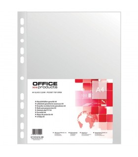 Folie protectie transparenta A4, 40 microni, 100/set, OFFICE PRODUCTS