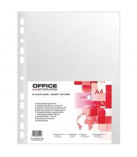 Folie protectie transparenta A4, 50 microni, cristal, 100/set, OFFICE PRODUCTS