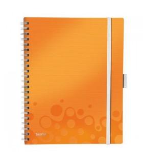 Caiet de birou A4,  80 file, cu spira, dictando, coperta PP, Be Mobile Wow, LEITZ