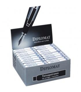 Patroane cerneala 6/cutie negru DIPLOMAT