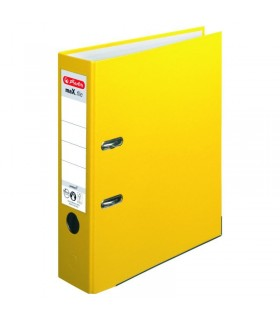 Biblioraft A4 PP 8 cm, culoare galben Herlitz