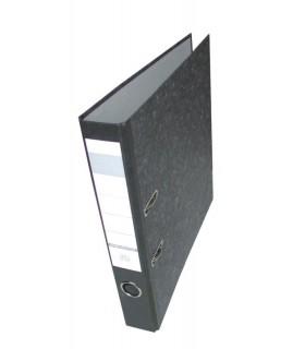 Biblioraft  marmorat A4, 5 cm, negru HERLITZ