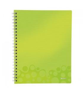 Caiet de birou A4, 80 file, cu spira, matematica, Get Organized Wow LEITZ