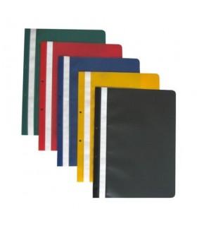 Dosar din plastic cu sina si gauri A4 diverse culori HERLITZ