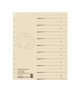 Separatoare carton A4, 10 buc/set, bej HERLITZ