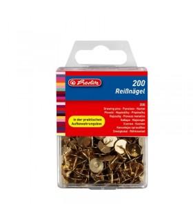 Pioneze metalice aurii, 200 buc/cutie, HERLITZ