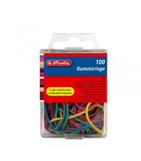 Inele elastic color 100 buc/cutie Herlitz