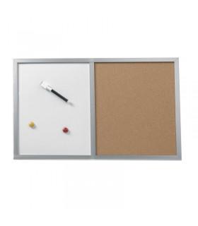 Tabla combi, whiteboard si panou pluta, 40 x 60 cm HERLITZ