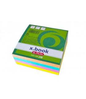 Cub hartie 8 x 8 x 3 cm, 230 file color HERLITZ