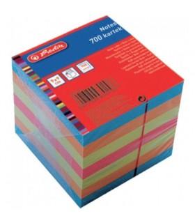 Cub hartie 9 x 9 x 9 cm, 700 file color HERLITZ