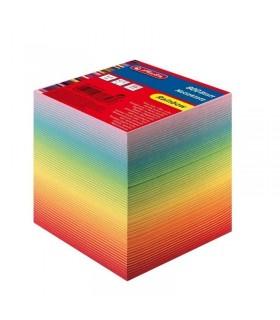 Cub hartie 9  x 9 x 9 cm, 800 file culori curcubeu HERLITZ