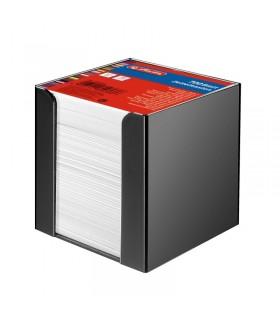 Cub hartie cu suport negru 9 x 9 x 9 cm, 700 file alb HERLITZ