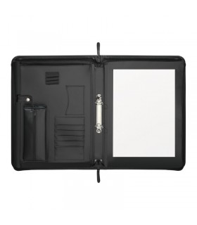 Organizer tip servieta, piele sintetica, 395 x 285 mm, neagra, HERLITZ