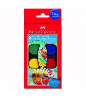 Acuarele 8 culori cu pensula FABER-CASTELL