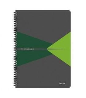 Caiet A4, 90 file, cu spira, coperta PP, matematica Office LEITZ