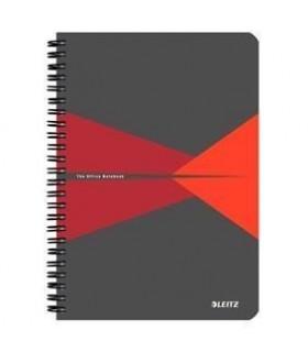 Caiet A5, 90 file, cu spira, coperta PP,  matematica Office LEITZ