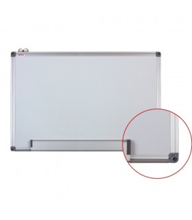 Tabla alba magnetica cu rama din aluminiu, 90 x 120 cm, Optima