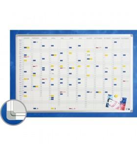 Planner anual, vertical, 90 x 120 cm, profil aluminiu SL, (benzi magetice incluse) SMIT