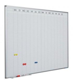 Planner dublu saptamanal, 90 x 120 cm, profil aluminiu SL, (benzi magnetice incluse) SMIT
