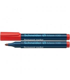 Marker permanent varf rotund 1.0 - 3.0 mm 4 culori/set Maxx 130 SCHNEIDER