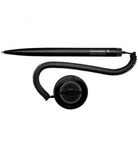 Pix cu snur si suport negru autoadeziv, culoare scriere negru, varf 1.0 mm SCHNEIDER