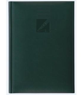 Agenda nedatata A5, coperta buretata, personalizabila, culoare verde HERLITZ