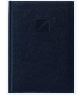 Agenda nedatata A5, coperta buretata, personalizabila, culoare albastru petrol HERLITZ