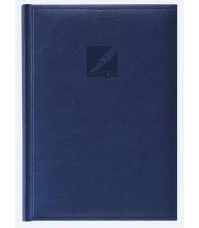 Agenda nedatata A5, coperta buretata, personalizabila, culoare albastra HERLITZ