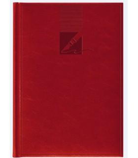 Agenda nedatata A5, coperta buretata, personalizabila, culoare rosie HERLITZ