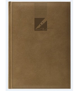 Agenda nedatata A5, coperta buretata, personalizabila, culoare capuccino HERLITZ