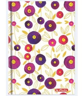 Agenda HERLITZ nedatata Glamour RO A5, 224 pagini, coperta tare, motiv Flowers