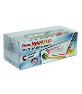 Marker tabla de scris, vf rotund 4.00 mm + burete magnetic PENTEL MAXIFLO