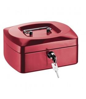 Caseta (cutie) bani metalica, rosie, 205 x 160 x 85 mm ALCO