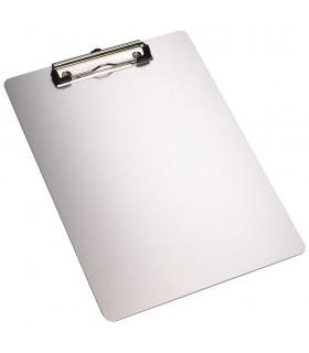 Clipboard simplu A4, din aluminiu, argintiu, ALCO