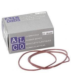 Elastice pentru bani, 50 g/cutie, D 85 x 1,5 mm, ALCO