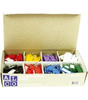 Etichete pentru chei, 200 buc / set, culori asortate ALCO