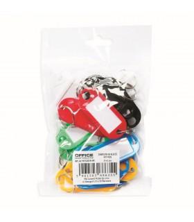 Etichete pentru chei, 20 buc / set, culori asortate OFFICE PRODUCTS