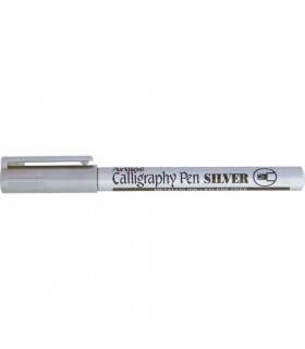 Marker argintiu Calligraphy, varf tesit din fetru 2.5 mm ARTLINE