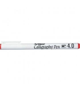 Marker Calligraphy diverse culori, varf tesit din fetru 4.0 mm ARTLINE