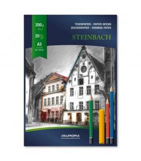 Bloc desen A3 20 file - 200g/mp carton alb AURORA Steinbach
