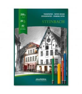 Bloc desen A3 20 file 250g/mp carton alb AURORA Steinbach