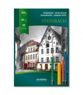 Bloc desen A4 20 file 250 g/mp carton alb AURORA Steinbach