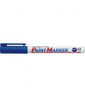 Marker cu vopsea diverse culori, corp metalic, varf rotund 0.8 mm ARTLINE