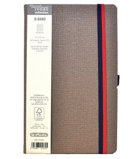 Bloc notes 13 x 21 cm, 240 file, dictando, Ivory B-Band HERLITZ