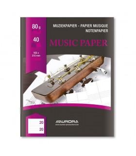 Caiet muzica, A5, 20 file Raphael AURORA