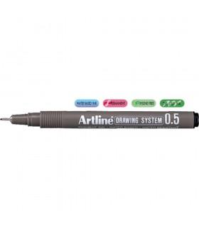 Marker pentru desen tehnic, varf fetru 0.05 mm ARTLINE
