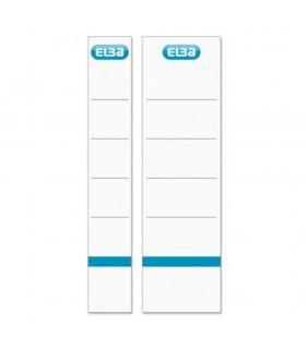 Etichete carton pentru biblioraft 80 mm 10/set albe ELBA