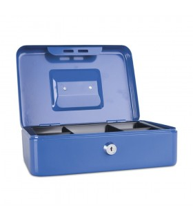 Caseta (cutie) bani metalica, albastra, 250 x 180 x 90 mm, DONAU