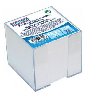 Cub hartie cu suport plastic, 83 x 83 mm alb DONAU